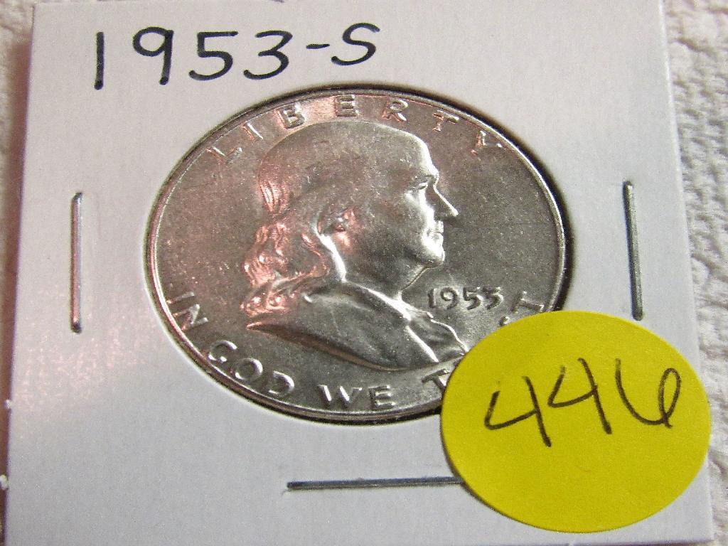 1953-S Franklin Half Dimes