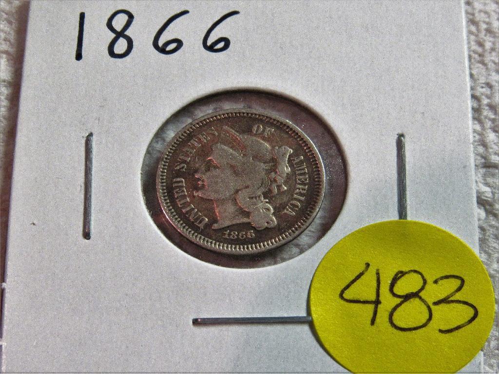 1866 3 Cent Piece
