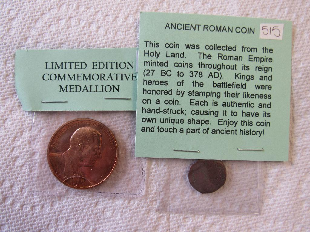 Commemorative Medallion, Ancient Coin, Mexican Silver Peso