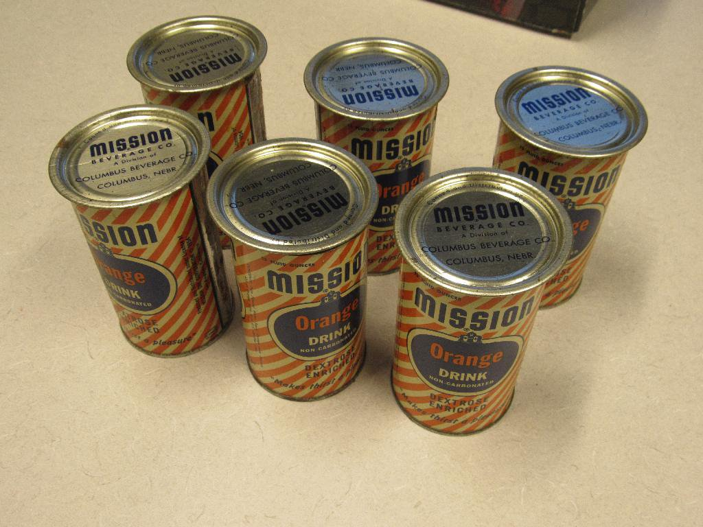 6 Pak of Mission Beverage Cans and lids