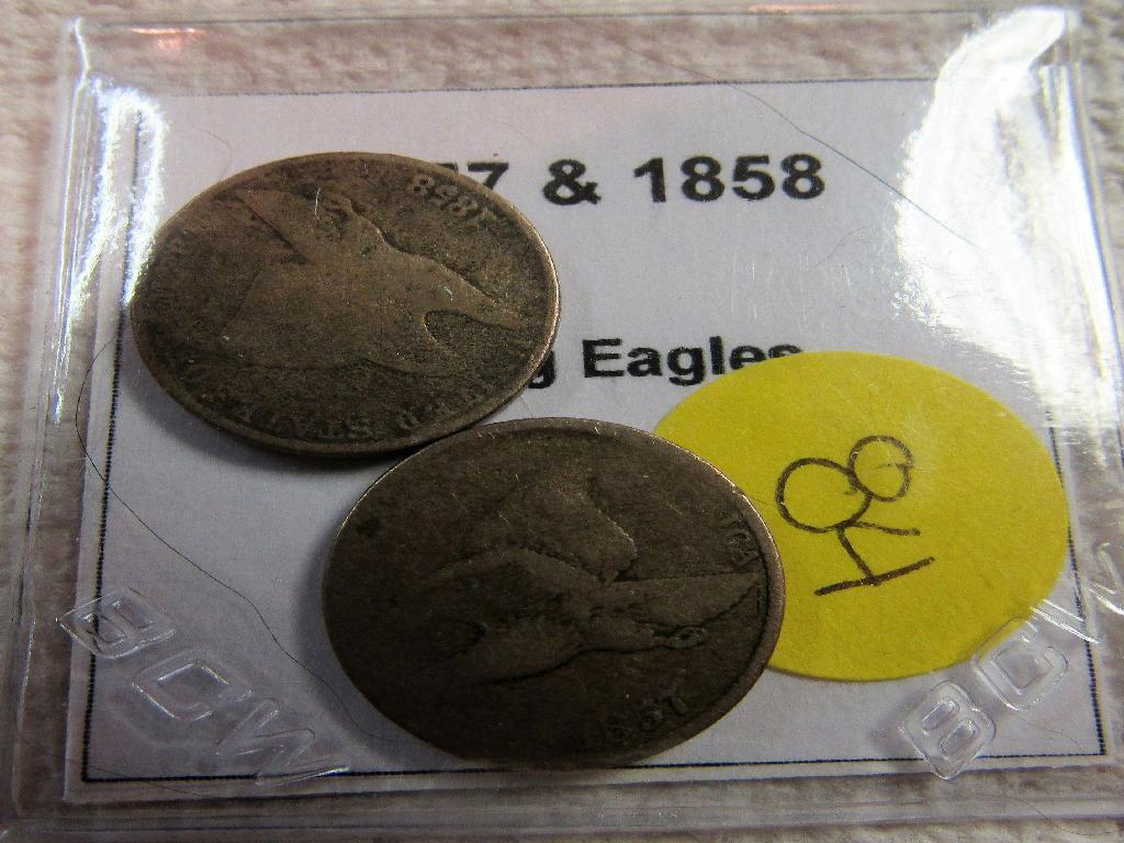1857 & 1858 Flying Eagle Cents