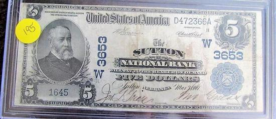 $5.00 National Currency Bank Note