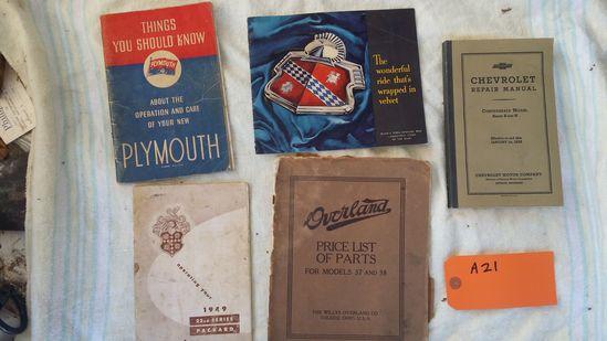 5 Auto Booklets