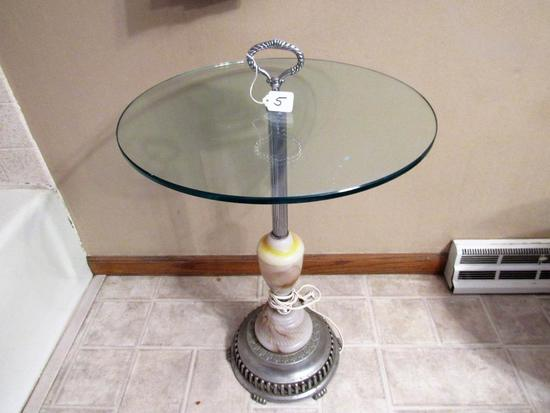 Glass table with light up stand