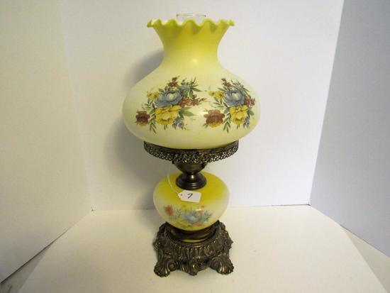 Yellow flower parlor lamp