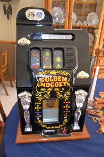Golden Nugget 25 Cent Slot Machine