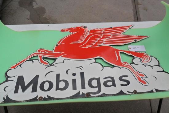 Mobil Gas Porcelain Sign