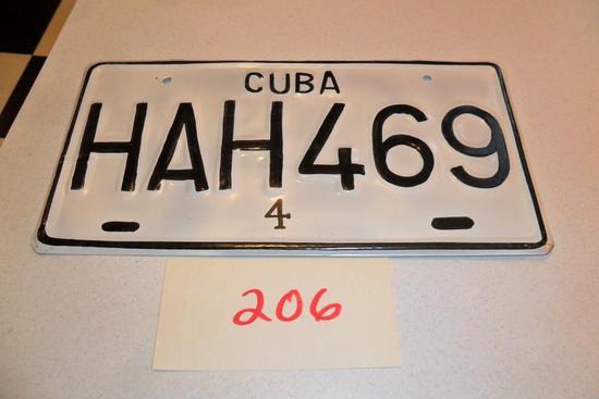 Cuban License Plate