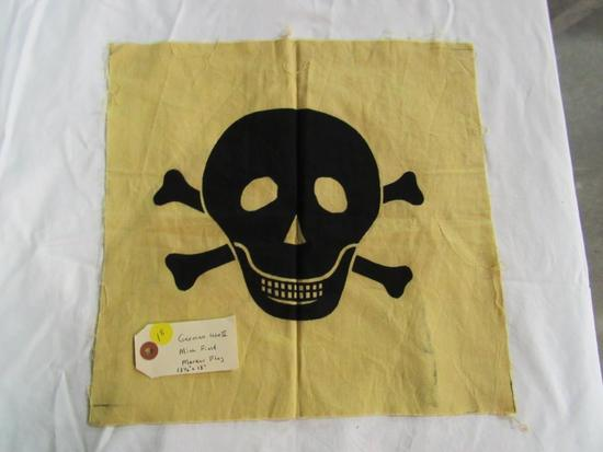 """German WWII Mine Field Marker Flag 13 1/2"""" x 13"""""""
