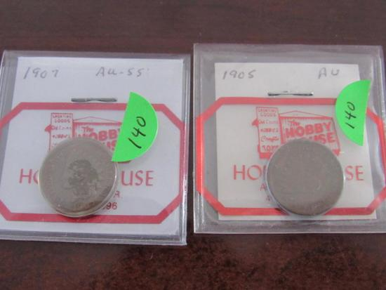 1905 AU, 1907 AU-55 Indian Head Cents