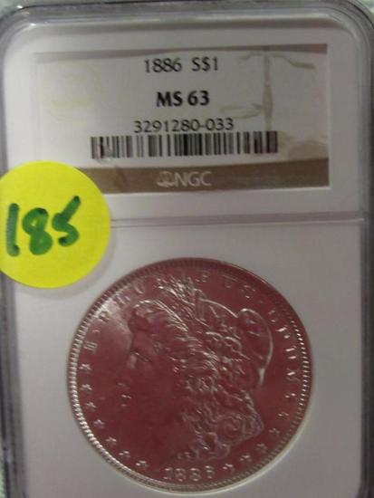 1886 MORGAN DOLLAR NGC MS63