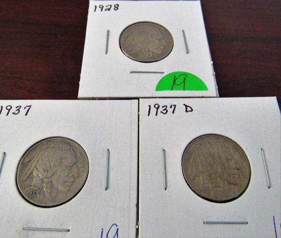 1928, 37, 37-D Buffalo Nickels