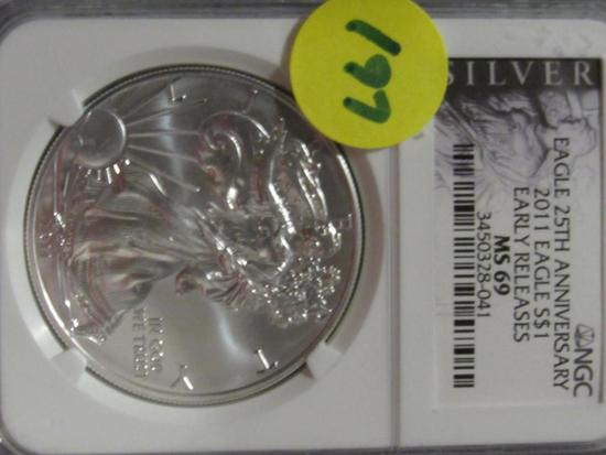 2011 EAGLE $1 NGC MS69