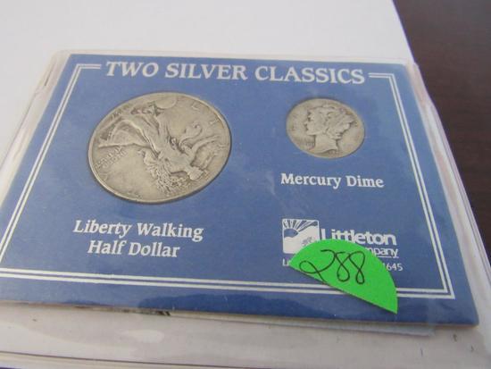 1937 Walking Liberty Half 1941 Mercury Dime