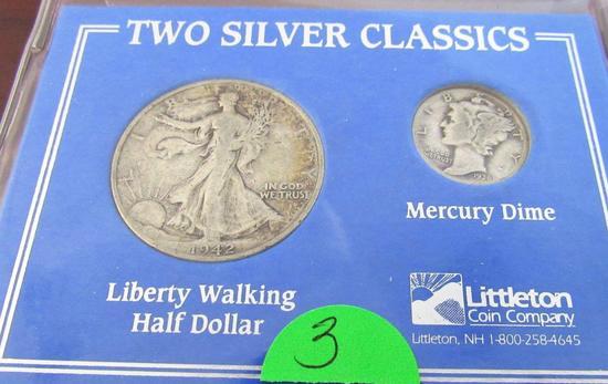 1942-S Half Dollar, 1936 Dime