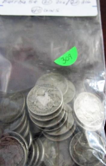 Bag of 40 Buffalo Nickels