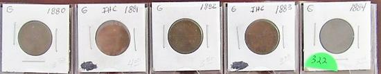 1880-1884 Indian Head Cents