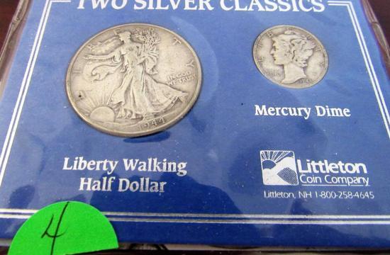 1944 Half Dollar, 1943-D Dime