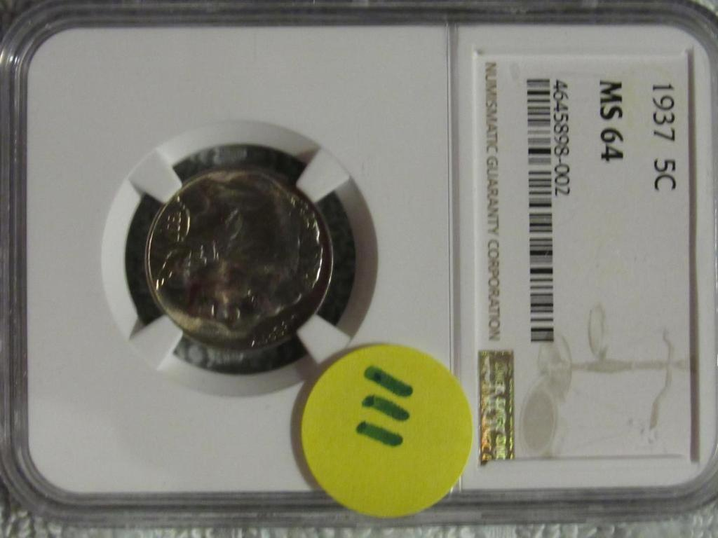1937 BUFFALO NICKEL NGC MS64