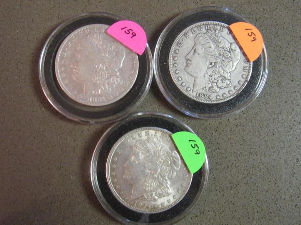 1881,1884,1921 MORGAN DOLLARS