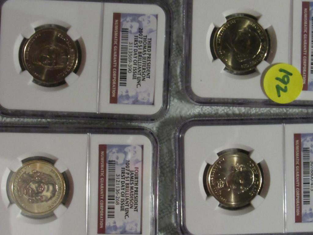 NGC 2007 FIRST DAY ISSUE SET OF 4 PRESIDENTIAL DOLLARS