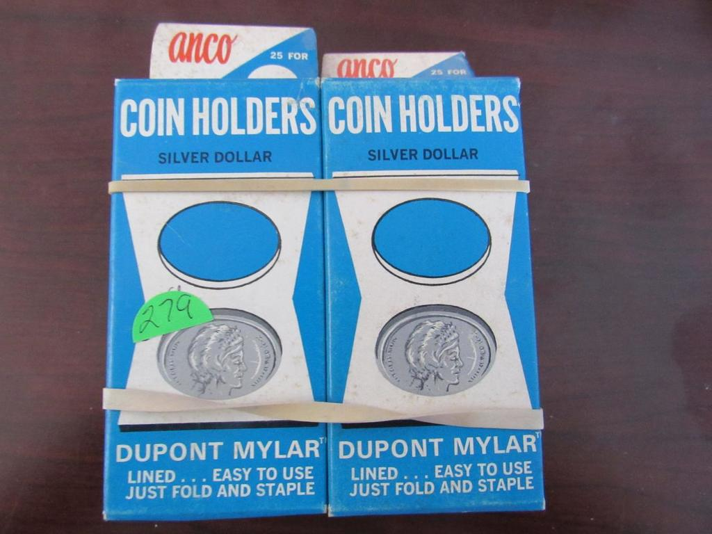 4 Anco Silver Dollar Coin Holders