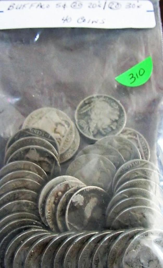 Bag of 40 Buffalo Nickels