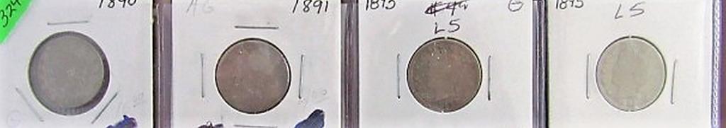 1890, 91, 93, 95 Liberty Nickels