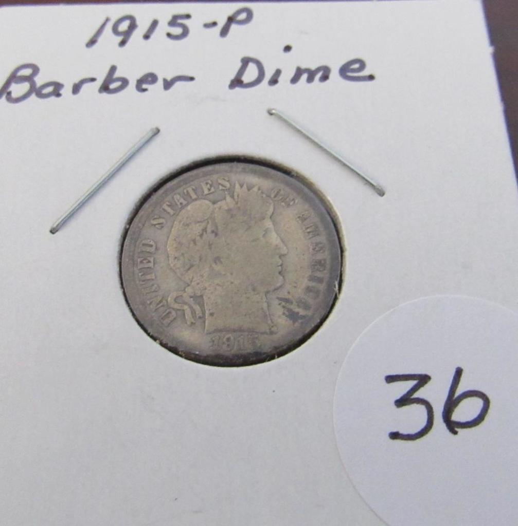 1915-P Barber Dime