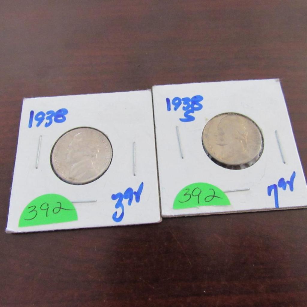 1938, 1938-S Jefferson Nickels