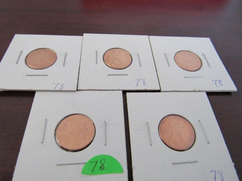 Lot of 5 2009 Lincoln Cents