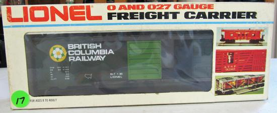 Lionel British Columbis Box car