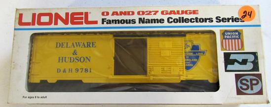 Lionel Delaware & Hudson boxcar