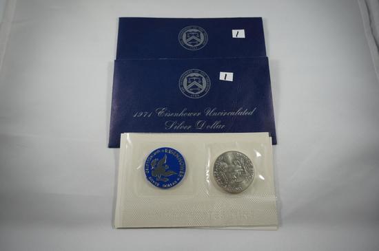(2) 1971 Ike dollars