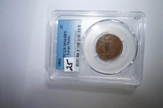 1864 2 cent Large motto