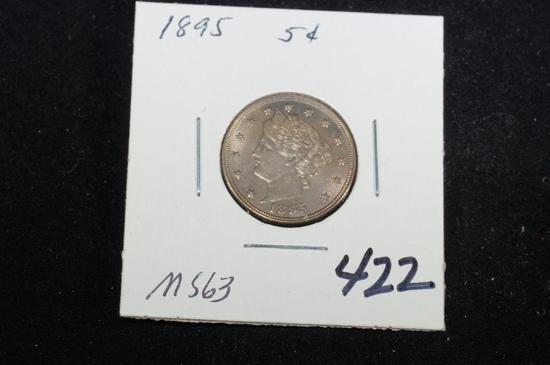 """1895 """"V"""" nickel"""