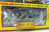 Rail King New York Central Auto Carrier Flat Car w/Ertl '49 Mercurys