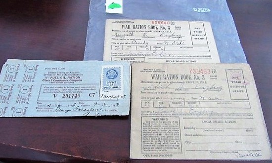 WWII Ration Book w/Unused Stamps