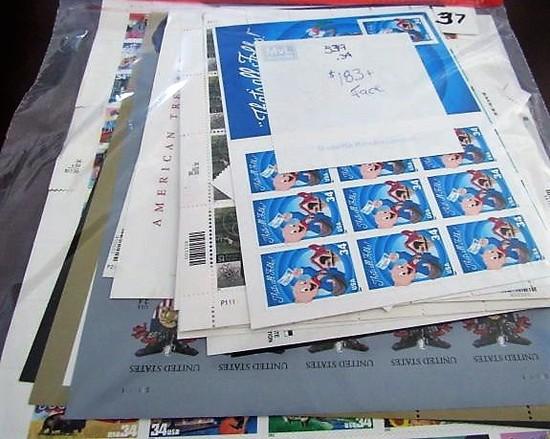 $183.00+ Face Value Mint 34 Cent Stamps