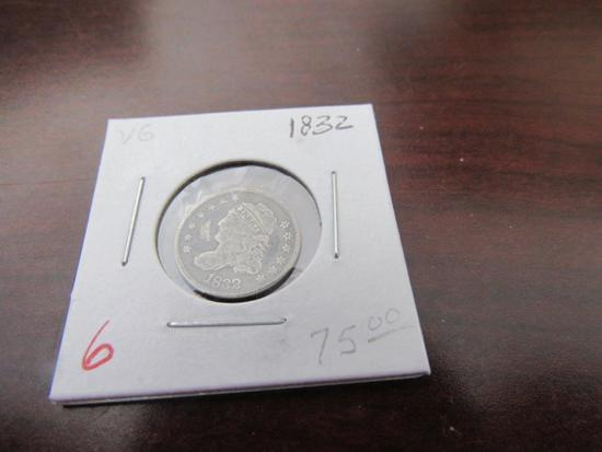1832 Capped Half Dime
