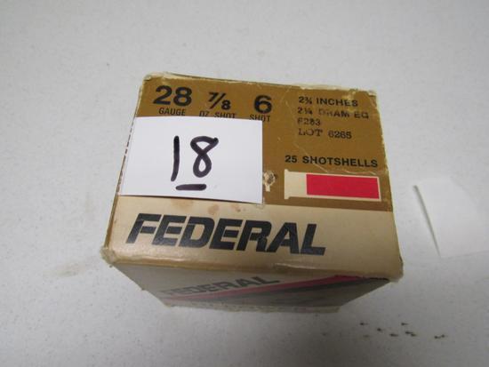 "1 box Federal HI-Power 28 ga 6 shot 2 3/4"""