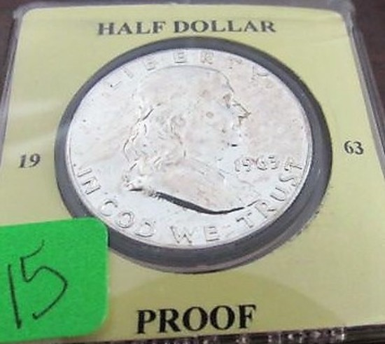 1963 Proof Franklin Half Dollar