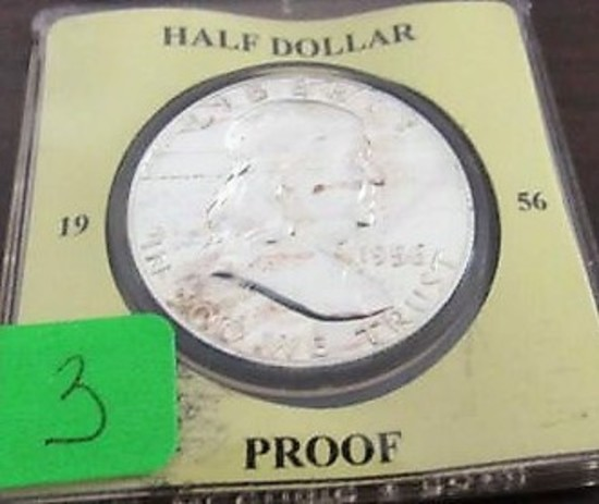 1956 Proof Franklin Half Dollar