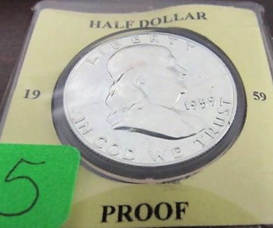 1959 Proof Franklin Half Dollar