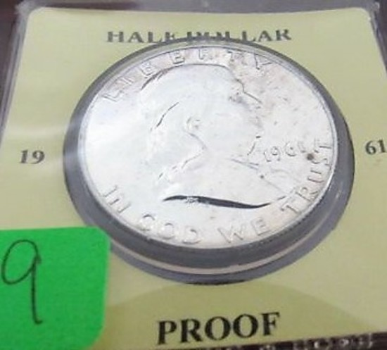 1961 Proof Franklin Half Dollar
