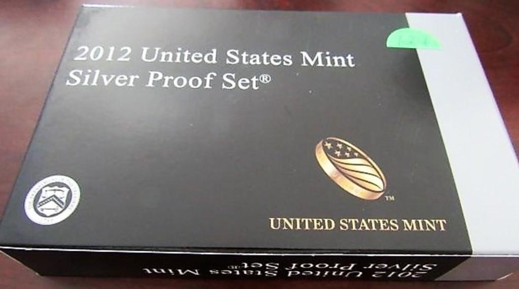 2012 US Mint Silver Proof Set