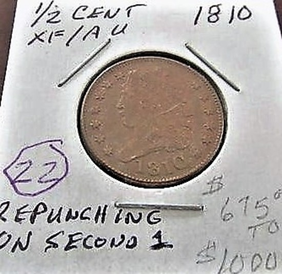 1810 Half Cent EF