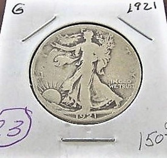 1921 Walking Liberty Half