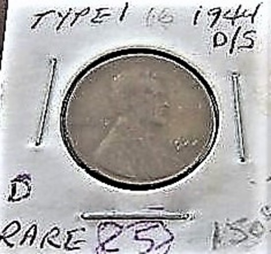 1944 D/S Type 1 Lincoln Cent