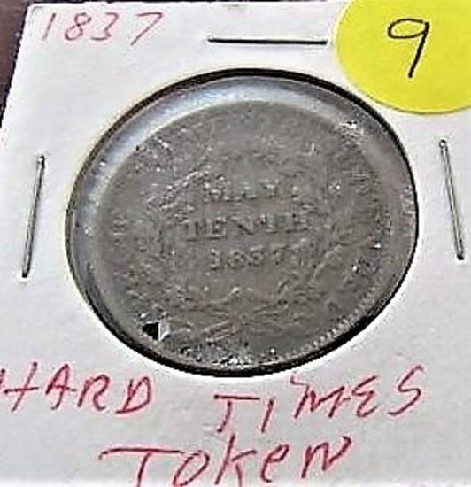 1837 Hardtimes Token